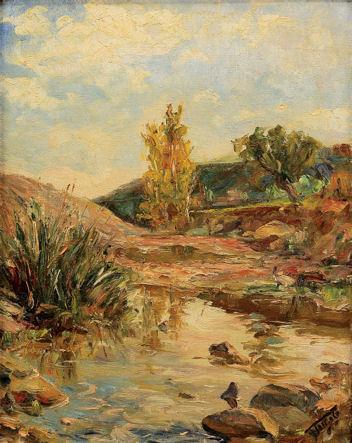 Paisagem de rio na Extremadura Oeste