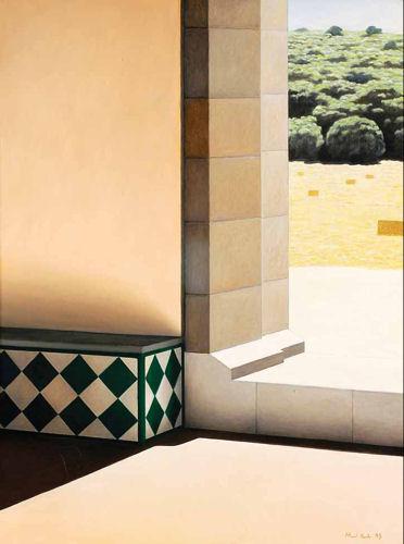 Cunhal com banco e azulejo