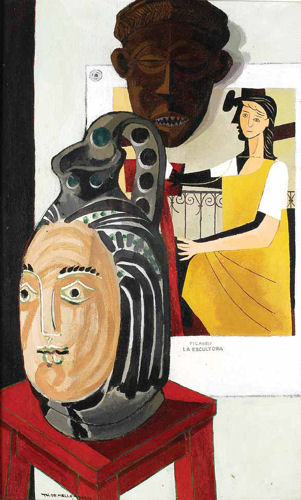 Picasso - La Escultora