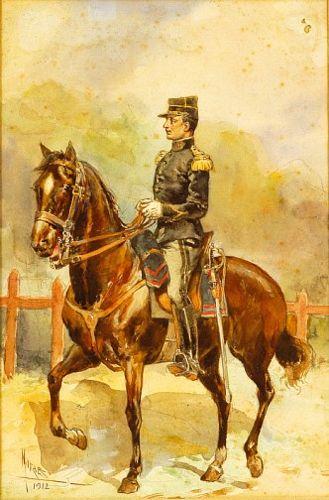 Militar a cavalo
