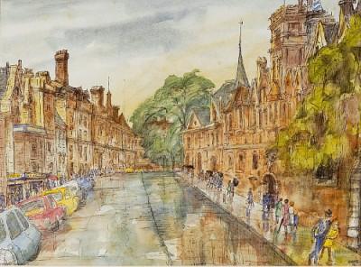 Oxford em manhã de chuva