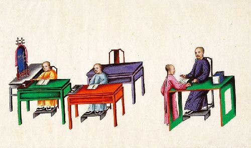 Cenas diversas com figuras orientais
