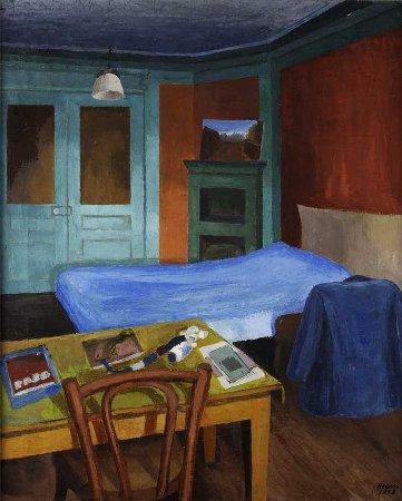 Sem título - Interior do quarto do artista