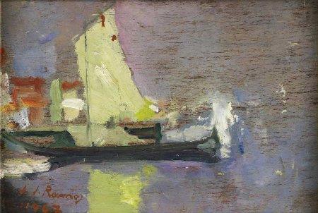Sem título - Paisagem com barco