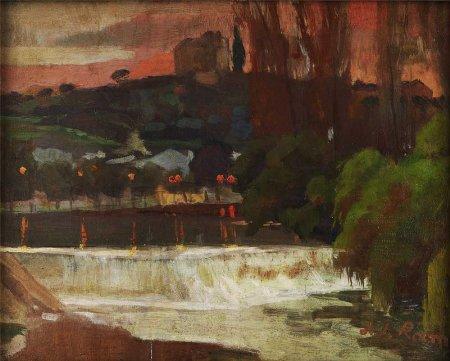 Açude do rio Nabão em Tomar