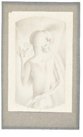 Figura feminina com flor