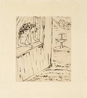 Figura feminina à janela