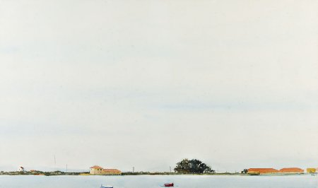 Vista de rio com casas - Lisboa