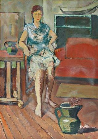 Interior com figura