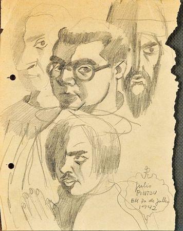 """""""Sem título - D. Afonso Henriques, D. Nuno Álvares Pereira, Salazar e António Lino"""""""""""
