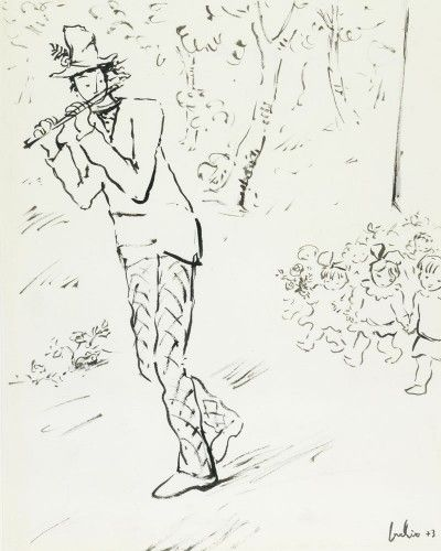 O Flautista de Hamelin dos irmãos Grimm