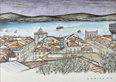 Díptico, Vista de Lisboa