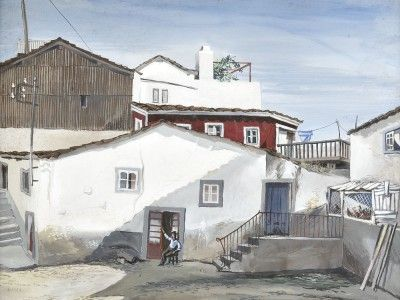 Vista com casas