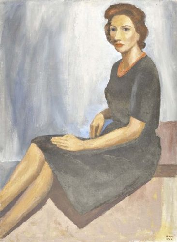 Retrato de Clara Hogan, mulher do artista