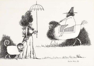 Caricatura com figuras