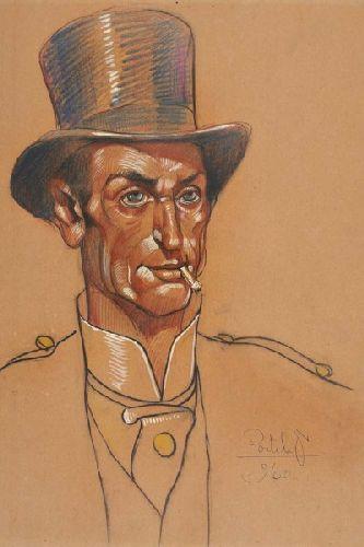 Figura masculina com chapéu