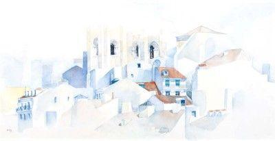 Vista de Lisboa com a Sé