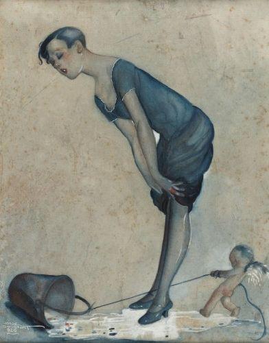 Figura feminina e anjo