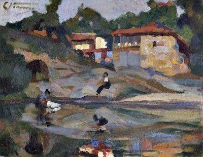 Vista da casa de Amadeu de Souza Cardoso em Manhufe
