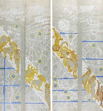 Cartões para os painéis decorativos da reitoria da Universidade Clássica de Lisboa