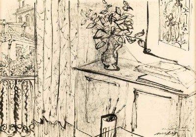 Interior do atelier do artista