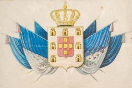 """""""ARMAS DE PORTUGAL SOBRE TROFÉUS"""","""