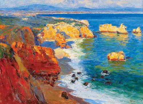 "\""Algarve - Vista da praia da Rocha\"""