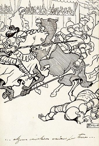 Alguns cavaleiros caíram por terra ...