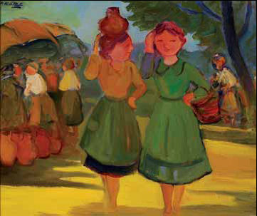 Meninas na feira