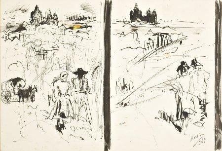 Duas paisagens com figuras
