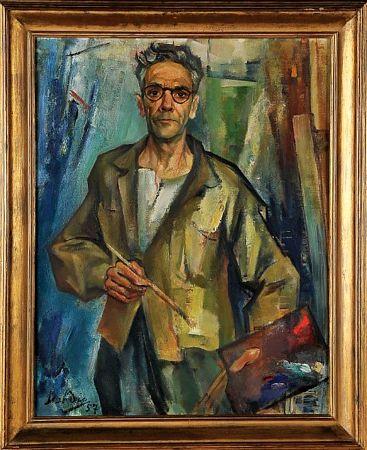 Auto-retrato no atelier