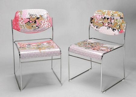 Par de cadeiras cromadas