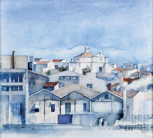 """Vista de Lisboa - Capela de Santo Amaro"""