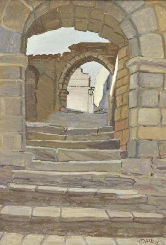 Monsaraz Vista de rua entre muralhas