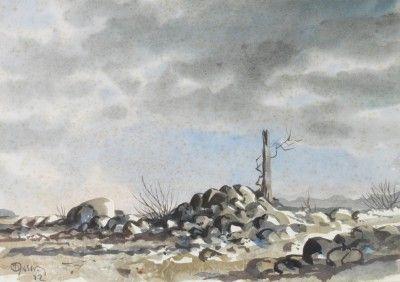 Rochas e árvore