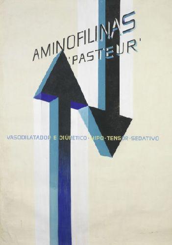 Maquete de cartaz publicitário - Aminofilinas - Pasteur