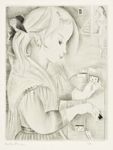 Menina com dominó