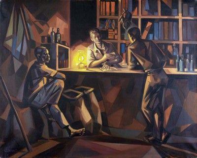 Cena de interior num bar - Angola