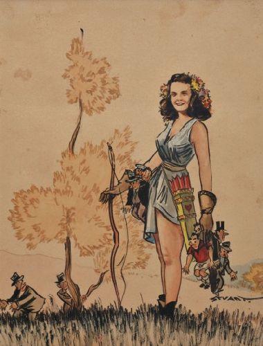 Caricatura alusiva à caça