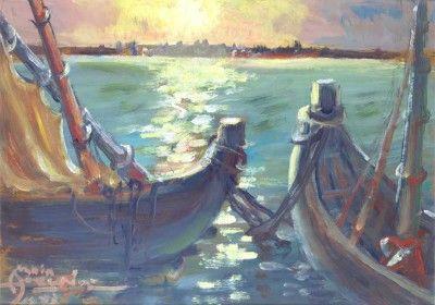 Sem título - Paisagem com barcos